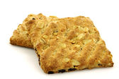 Two healthy fibrous crackers — Stock Photo