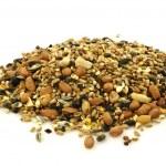Heap of mixed bird feed — Stock Photo
