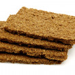 Wholemeal and rye diet crackers — Stock Photo