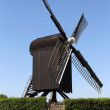 Wooden windmill near old fortress of Bourtange — Stock Photo #11911661