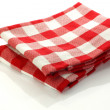 Stock Photo: Checkered kitchen towel