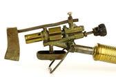 Stare narzędzia lutowania mosiądzu — Zdjęcie stockowe