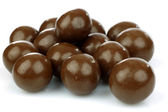 Chocolate balls filled with hazelnuts — Stock Photo
