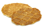 Freshly baked Dutch waffles — Stock Photo