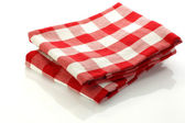 Checkered kitchen towel — Stock Photo