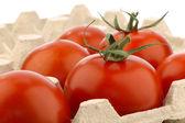 Pomodori freschi in un vassoio — Foto Stock