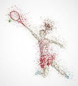 Abstract tennis player — Stock Vector