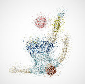 Abstract football player — Stockvektor