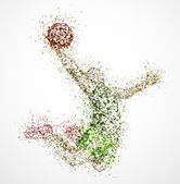 Abstract basketball player — Vettoriale Stock