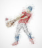 Abstract baseball player — Stock Vector
