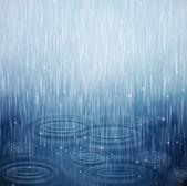 Un giorno di pioggia — Vettoriale Stock