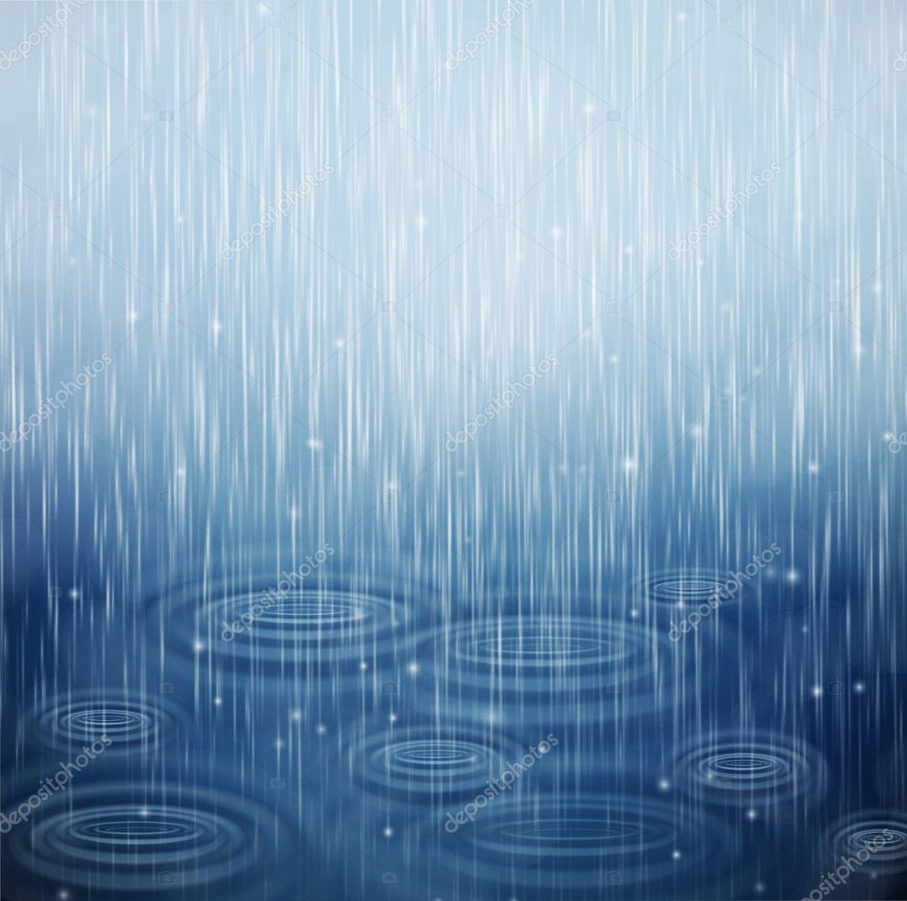 Background with rain and waves on the drops. Eps 10 — Stock Vector #11416086