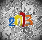 2013 year from a paper — Stock Vector