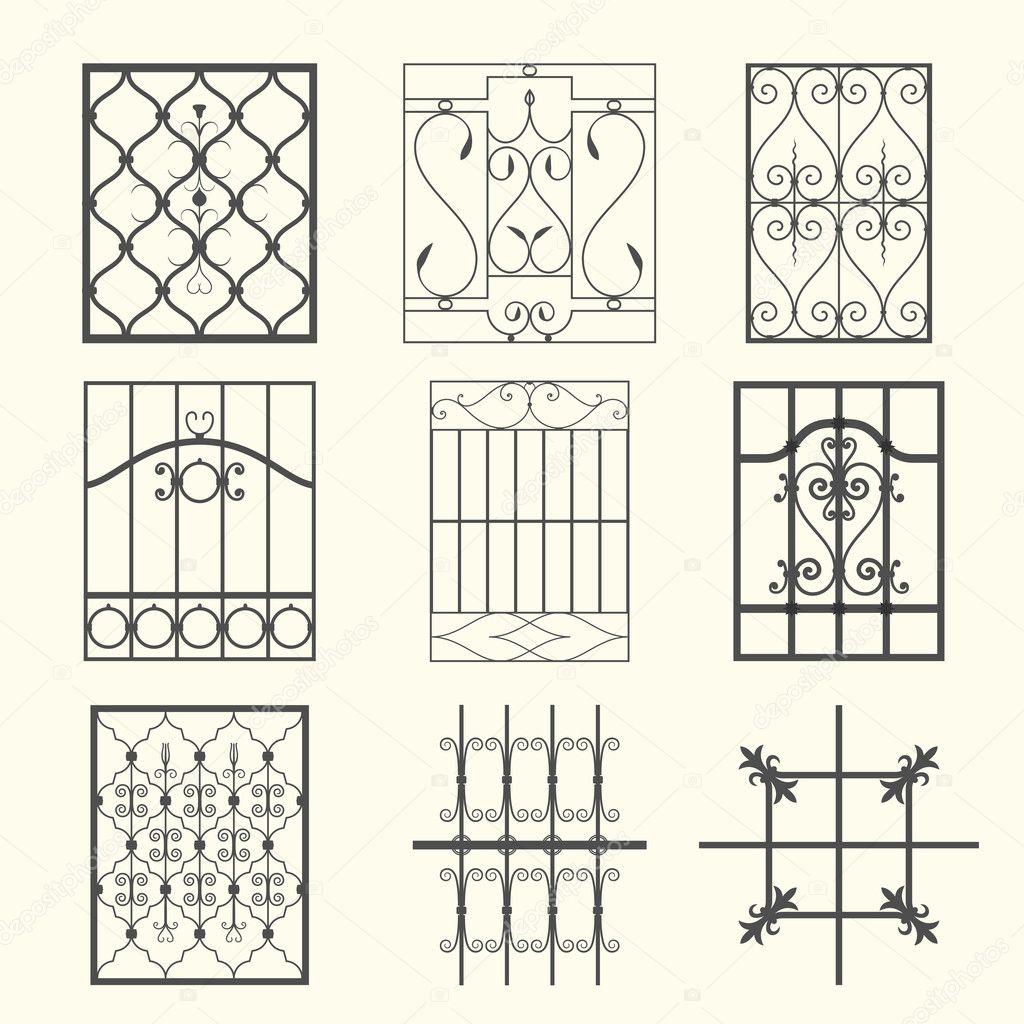 #9E972D Grades de janela de ferro — Vetor de Stock © kornilov17 #10882157 4166 Grades Para Janelas Em Arco