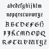Medieval alphabet — Stock Vector