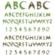 Green alphabet from leaves — Stock Vector #11805459