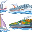 Water transport - Stock Vector