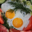 Fried eggs - Stock Photo