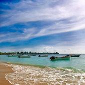 Trinidad and Tobago - Pigeon point beach — Stock Photo