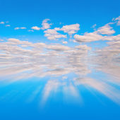 Blue sky reflextion — Stock Photo