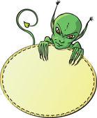 Green devil card — Stock Vector
