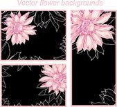 Flower backgrounds — Stock Vector