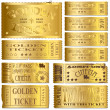 Gold Tickets - Stock vektor