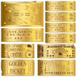 Gold Tickets - Stockvectorbeeld
