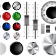 Stock Vector: Volume knobs