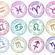Star sign stamps — Stock Vector