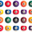 Pool Ball Alphabet — Stock Photo