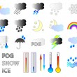 Royalty-Free Stock Imagem Vetorial: Weather forcast  Icons