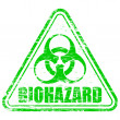 Biohazard Rubber Stamp — Stock Vector