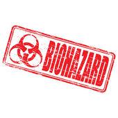 Biohazard Rubber Stamp — Stock Vector