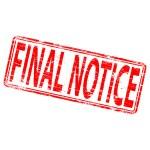 Final Notice — Stock Vector
