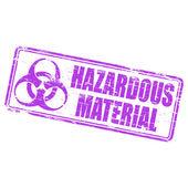 Hazardous Material Rubber Stamp — Stock Vector