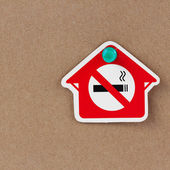 No smoking in the home. — Stock Photo