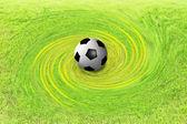 Balón de fútbol sobre fondo abstracto — Foto de Stock