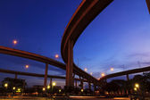 Architecture of Mega Bhumibol Industrial Ring Bridge at dusk in — Stock Photo