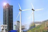 Alternative energy sources windmills — Stock Photo