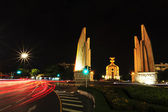 Democracy monument at night, bangkok, Thailand. — Stock Photo