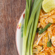 Stock Photo: Thai food style , stir-fried rice noodles (Pad Thai)