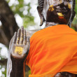 Royalty-Free Stock Photo: Hand of buddha statue ,In Public place