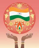India hands — Stock Vector