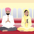 Sikh prayer - Stock Photo