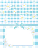 Gingham and daisies — Stock Vector