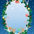 christmas border — Stock Vector