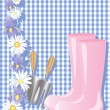 Royalty-Free Stock Vektorgrafik: Pink boots