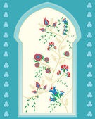 Islamic window — Stock Vector
