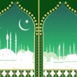 Islam skyline — Stock Vector